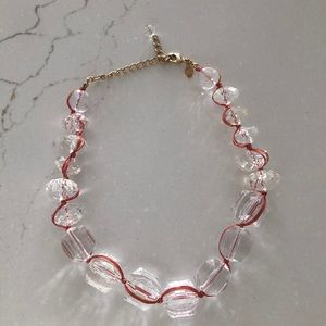 Anthropologie Clear Beaded Necklace